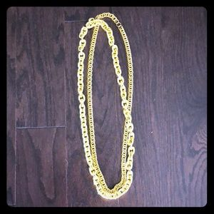 Costume Jewelry-Gold chains